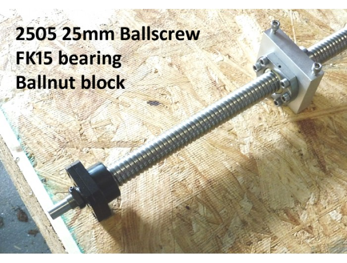 25mm Ballscrew 5mm pitch 1194mm long.