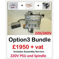 CNC Mini Muscle - Option 3 complete Bundle 220/240V