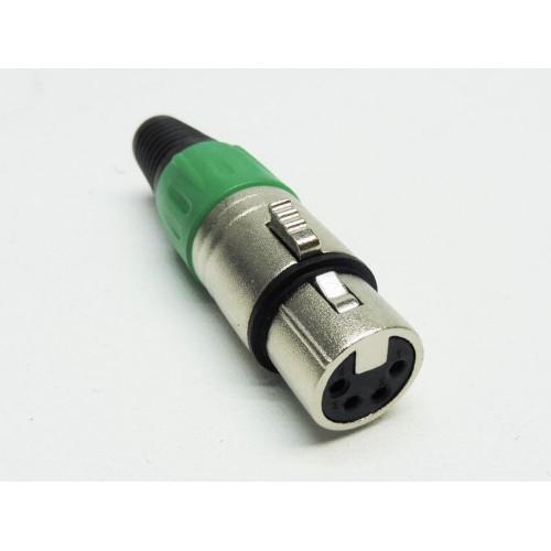 Pack of 2 Female 4 pin XLR inline socket